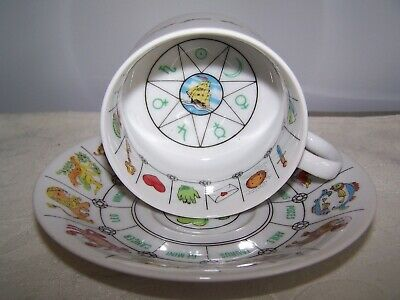 Vintage Astrological Astrology Zodiac Signs Fortune Telling Cup And Saucer