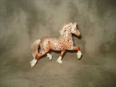 Breyer CM Glossy Decorator Red Roan Friesian Stablemate