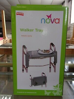 NOVA Walker Folding Tray with Two Cup Holders, Easy Up and Down