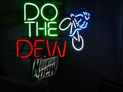"Official Mt. Dew ""Do The Dew"" BICYCLE  Neon Sign"
