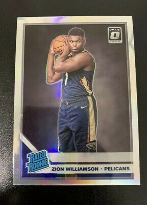 2019-20 Optic Zion Williamson Silver Holo Prizm New Orleans Pelicans Rookie #158
