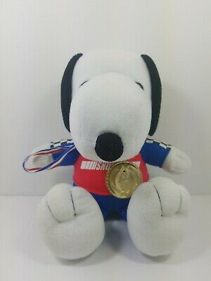 """Peanuts Snoopy 10"""" Plush Race car Driver Outfit With a Medal Stuffed-Animal"""