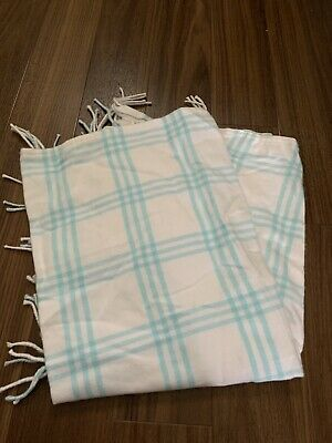 Brushed Cotton, Checked And Fringed Baby Blanket