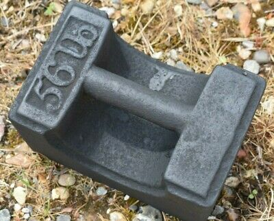 Vintage 56lb Cast Iron Weight Door Stop Stall