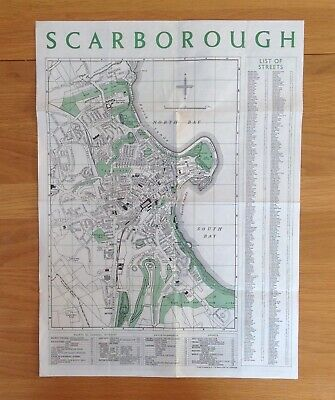 Vintage 1970's Map - Scarborough