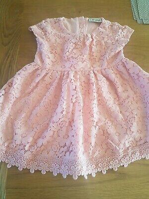 Next Baby Girls Pink Lace Dress Age 12-18 Months