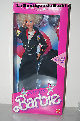 Army Barbie Doll, American Beauties Collection, 3966, 1989, Nrfb