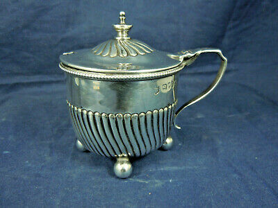 Silver Mustard Pot London 1888. 82.7 Grams.edgar Finlay & Hugh Taylor