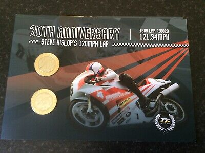 £2 coins. Steve Hislop 30th Anniversary. No 32 of only 1,000. 2 Coin IOM pack.