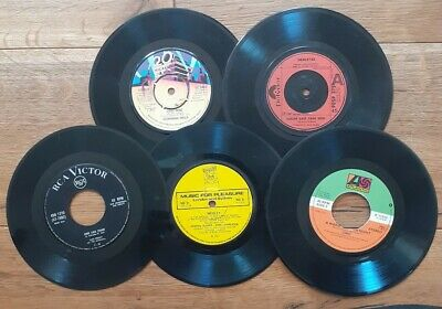 Job lot 5 x 7 inch Single Vinyl Records For Craft, Upcycling Projects Etc