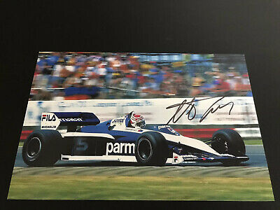Nelson Piquet Hand Signed 12x8 Photo Formula One