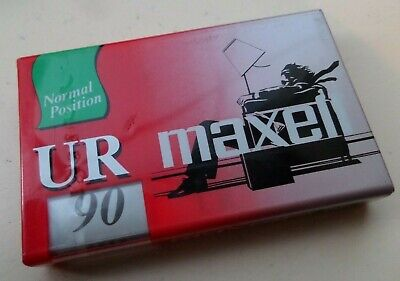 1 x Maxell UR 90 Normal Position IEC Type I Audio Cassette SEALED RARE!