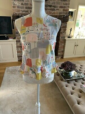 M&S Autograph girls print  cutout top age 13-14
