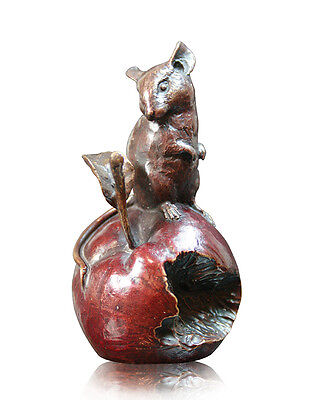 Limited Edition Mouse on Red Apple Hot Cast Bronze Michael Simpson 921