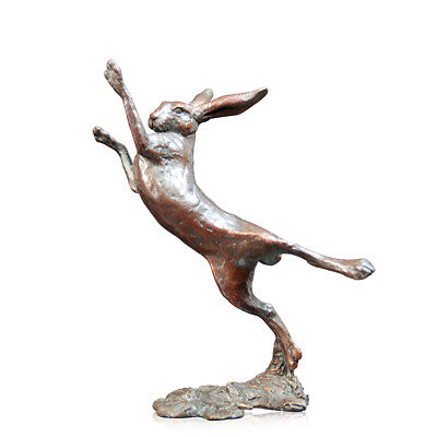 Solid Bronze Small Hare Boxing Sculpture Michael Simpson Limited Edition of 250