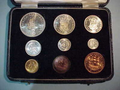 South Africa 1952 9 Coin Proof Set with *ORIGINAL BOX*