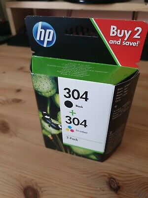 Genuine HP 304 ink cartridges combo pack (black and colour) - new and unopened