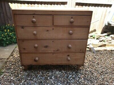 Stunning Antique Victorian Honey Coloured  Pine  Chest of Drawers