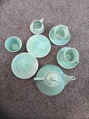 Childs earthenware Tea Set Vintage But Unsure Of Exact Age Good Condition