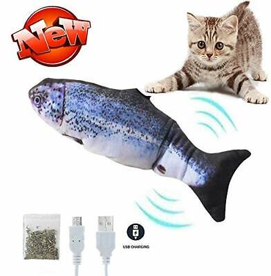 Catnip Fish Toys for Cats Interactive Toys Realistic Plush Electric Wagging