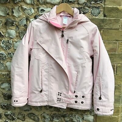 Girls Decathlon Ski Jacket Age 12 Kids Coat Winter Pink Waterproof Hood