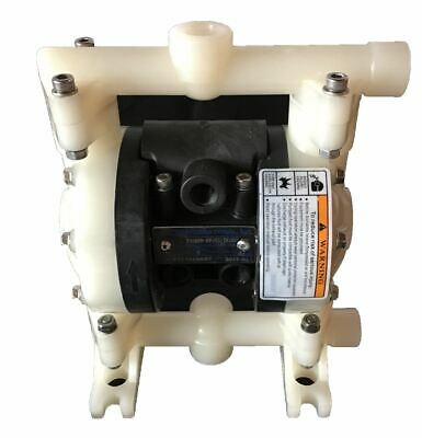 "Double Diaphragm Air Pump Chemical Industrial Polypropylene 1/4"" or 3/8 NPT Inle"