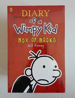 Diary of a Wimpy Kid Box of Books 12 Book set collection by JEFF KINNEY
