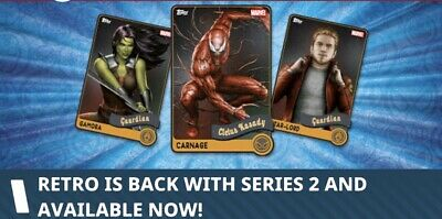 Topps Marvel Collect Retro Series 2      8 Card Set