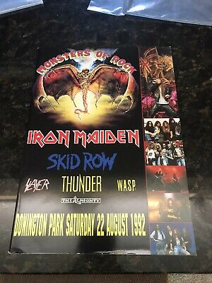Monsters Of Rock Iron Maiden Tour Book 1992