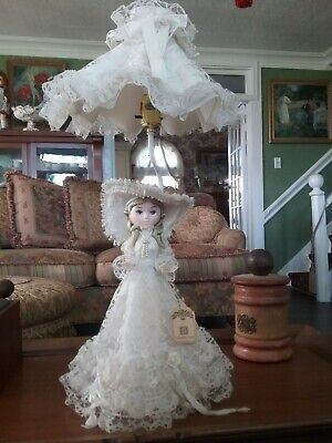 "Doll Lamp 25"" Lace Vintage Bradley Dolls"