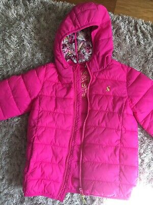 Bright Pink Girls Joules Jacket Age 6 Years