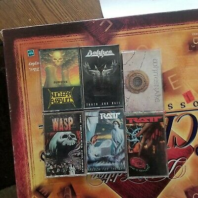 Lot Of 6 Heavy Metal Cassettes Tapes