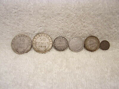 Lot of Newfoundland Silver Coins 1894-1918