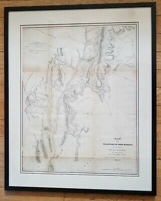 Antique 1848 [1846-7] Map of the Territory Of New Mexico Lieut's Abert & Peck