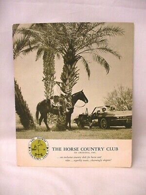 Vintage Brochure The Horse Country Club Of Arizona Scottsdale Paradise Valley
