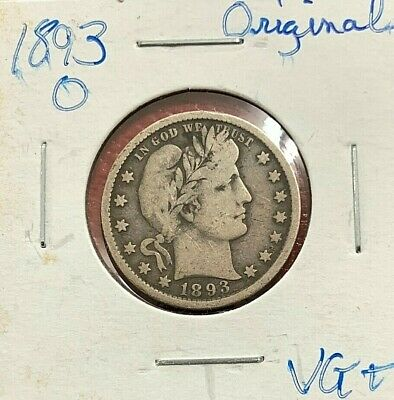 1893 O Barber Quarter In Original Condition From My Old Album Set