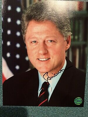 PRESIDENT BILL CLINTON SIGNED AUTOGRAPHED 8x10 PHOTO - Rare!