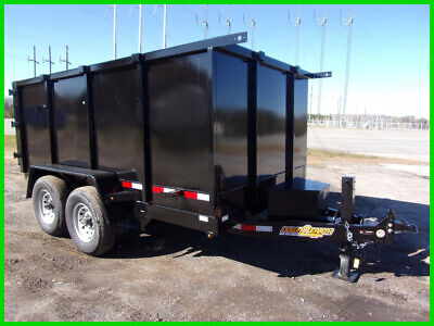 2020 Down To Earth dump trailer 7x12 4 ft side 14k GVWR New