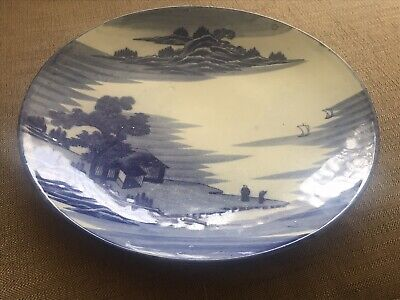 Vintage Oriental Pattern Charger Plate In Blue and White