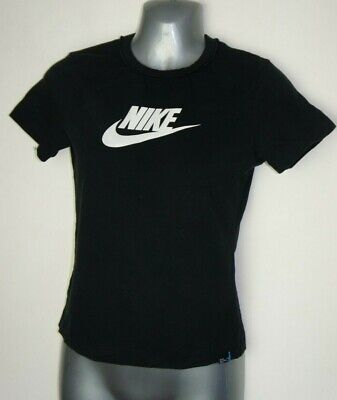 Bnwt Ladies Girls Black Nike Gym Track Workout T Shirt Top Size Medium Uk 10/12