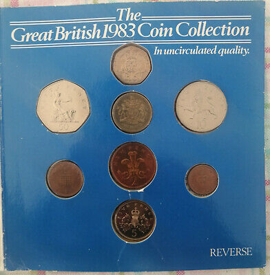 1983 Great British Coin Collection - In Uncirculated quality (Rather Tatty look)