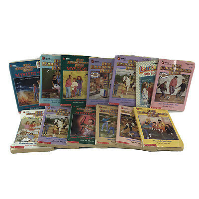 Chapter Books For Kids RL4 & Up -The Babysitters Club- Lot of 12 Paperbacks -DC