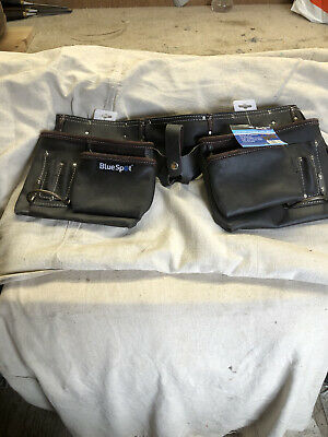 Blue spot 11 Pocket Deluxe Professional Leather Tool/ Nail Pouch/ Belt