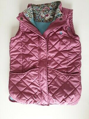 Joules Girls Dusky Pink Body Warmer outdoor play Age 9-10