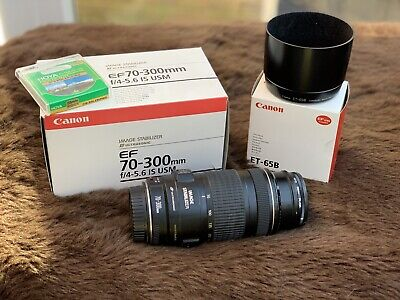 Canon EF 70-300mm F/4-5.6 IS USM Lens with Canon Lens Hood & Polarising filter