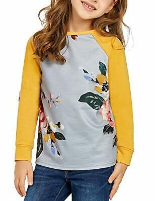 LookbookStore Girls Lovely Patchwork Floral Print Spliced, Yellow, Size X-Large