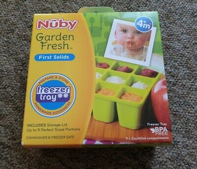 NEW Nuby garden fresh freezer tray weaning set