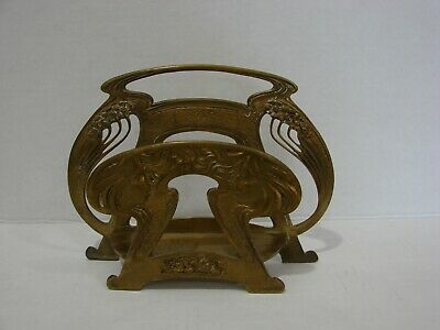 Antique Art Nouveau Cast Iron Letter Holder