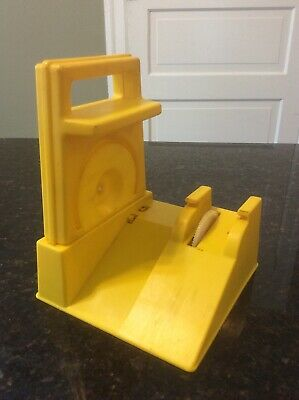 Vintage Ideal Evel Knievel YELLOW Stunt Cycle Launcher Charger Energizer 1973