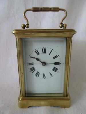 Antique French Brass Cased Carriage Clock c1890-1910 for Repair